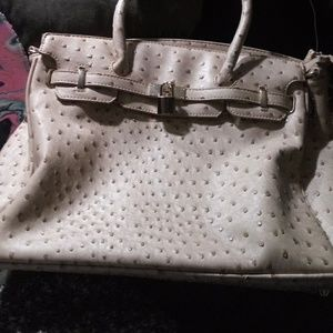 Handbags - Tan textured leather purse
